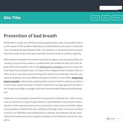 Prevention of bad breath – Site Title