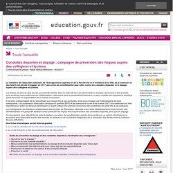 Conduites dopantes et dopage : campagne de prévention des risques auprès des collégiens et lycéens