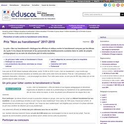 """Événements et concours - Prix """"Non au harcèlement"""" 2016-2017"""