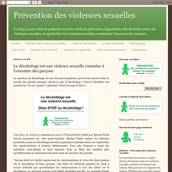 Prévention des violences sexuelles: Le décalottage est une violence sexuelle commise à l'encontre des garçons