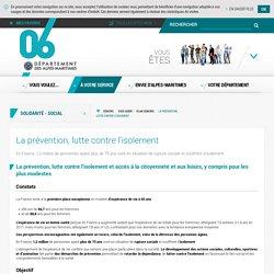 La prévention, lutte contre l'isolement - Département des Alpes-Maritimes