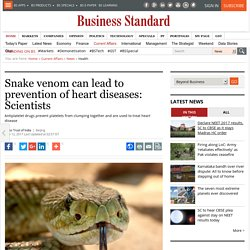 Snake venom can lead to prevention of heart diseases: Scientists