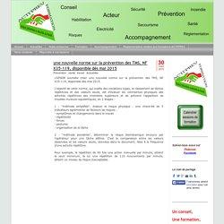 une nouvelle norme sur la prévention des TMS,NF X35-119, disponibledèsmai 2015 - ACTI'PREV FORMATION, sécurité incendie et santé au travail