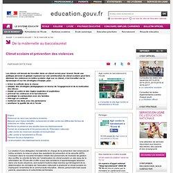 Climat scolaire et prévention des violences