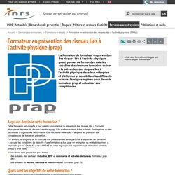 Formateur en prévention des risques liés à l'activité physique (PRAP) - Services aux entreprises