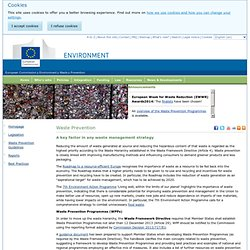 EUROPE - 2014 - Waste Prevention - A key factor in any waste management strategy