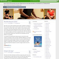 Save Your Hands!® Injury Prevention & Ergonomics for Manual Therapists