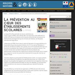 La prévention au cœur des établissements scolaires - Risques et Savoirs