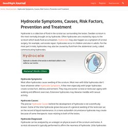 Hydrocele Symptoms, Causes, Risk Factors, Prevention and Treatment