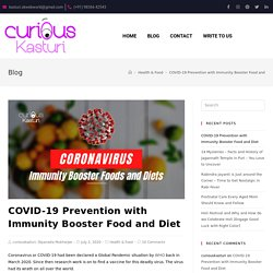 COVID-19 Prevention with Immunity Booster Food and Diet - Curious Kasturi