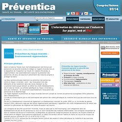 Prévention du risque incendie - Ce que dit la loi : Principes généraux, ERP et IGH