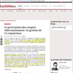 La pr vention des risques informationnels : la gestion de l'e-r