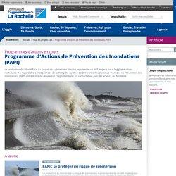 Programme d'Actions de Prévention des Inondations - Agglo La Rochelle