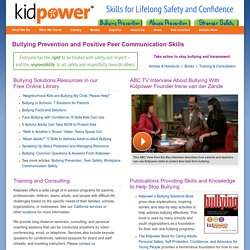 Bullying Prevention: Solutions for Protecting Kids and Teens