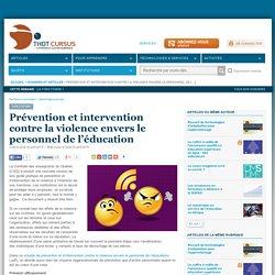 Prévention et intervention contre la violence envers le personnel de l'éducation