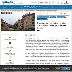 Prévention et lutte contre l'isolement des personnes (...) - UNCCAS