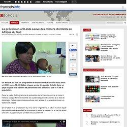 La prévention anti-sida sauve des milliers d'enfants en Afrique du Sud