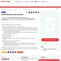 Prévention BTP - PACK AFFICHAGE OBLIGATOIRE