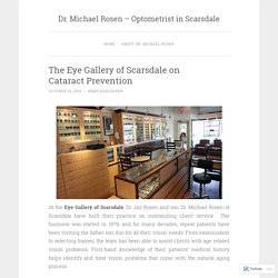 The Eye Gallery of Scarsdale on Cataract Prevention