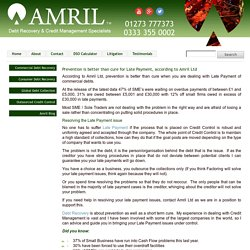 Prevention is better than cure for Late Payment, according to Amril Ltd