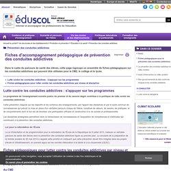 Prévention des conduites addictives - Fiches pédagogiques pour la prévention des conduites addictives