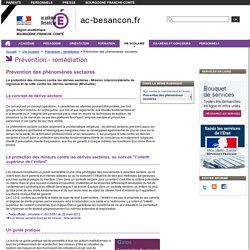Prévention des phénomènes sectaires - Rectorat de l'académie de Besançon - Phénomènes sectaires