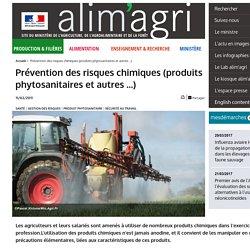 Prévention des risques chimiques (produits phytosanitaires et autres ...)