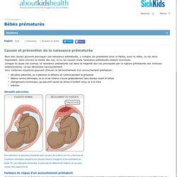 Causes et prévention de la naissance prématurée