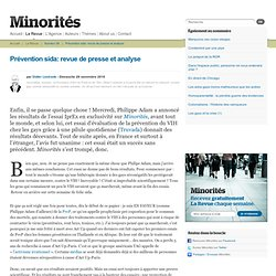 Prévention sida: revue de presse et analyse