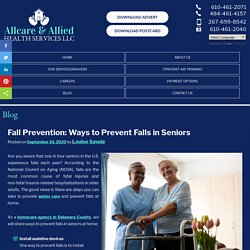 Fall Prevention: Ways to Prevent Falls in Seniors