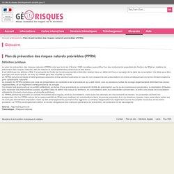 Plan de prévention des risques naturels prévisibles (PPRN)