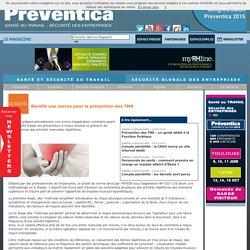 Bientôt une norme pour la prévention des TMS - Maladies professionnelles