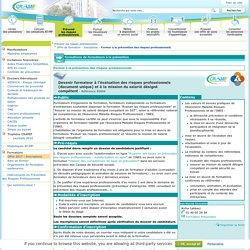 Formation - Former à la prévention des risques professionnels - CRAMIF