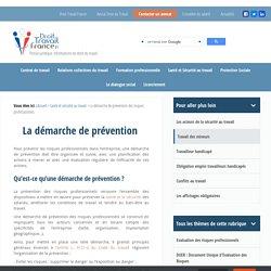 La démarche de prévention des risques professionnels