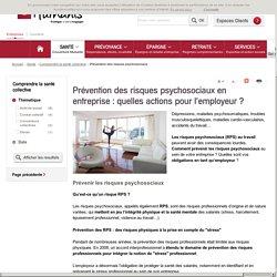 Prévention des risques psychosociaux au travail, gestion des RPS