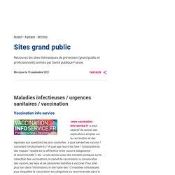 Nos sites de prévention – Sante publique France