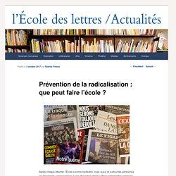 Prévention de la radicalisation : que peut faire l'école ?