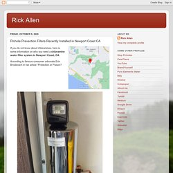 Rick Allen: Pinhole Prevention Filters Recently Installed in Newport Coast CA