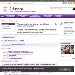 Fonctionnement des établissements scolaires - Le plan particulier de mise en sûreté (PPMS)