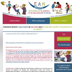 Enfant Animal Nature, Prévention de la violence - Sensibiliser l'enfant au respect humain et animal