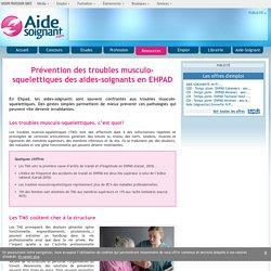 Prévention des troubles musculo-squelettiques des aides-soignants en EHPAD