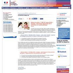CENTRE D ANALYSE STRATEGIQUE - MARS 2010 - ANALYSE - Lutte contre l'obésité : repenser les stratégies préventives en matière d'i