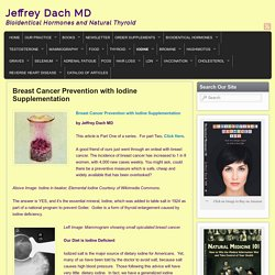Breast Cancer Prevention with Iodine Supplementation - Jeffrey Dach MD