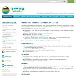 What You Can Do To Prevent Litter - Litter Prevention - Keep Tennessee Beautiful
