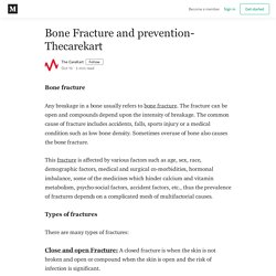 Bone Fracture and prevention-Thecarekart - The CareKart - Medium