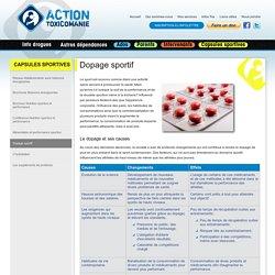 Dopage sportif - Capsules sportives - Infos drogue, prévention, dépendance en toxicomanie