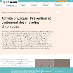 Activité physique : Prévention et traitement des maladies chroniques / Inserm, janvier 2019