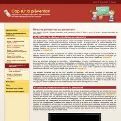 Mesures préventives au préscolaire - Étape 5