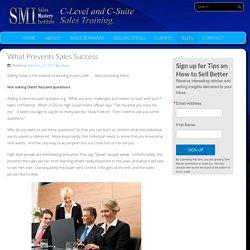 What Prevents Sales Success