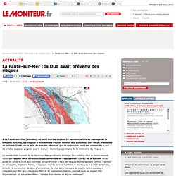 La Faute-sur-Mer : la DDE avait prévenu des risques - Aménagemen